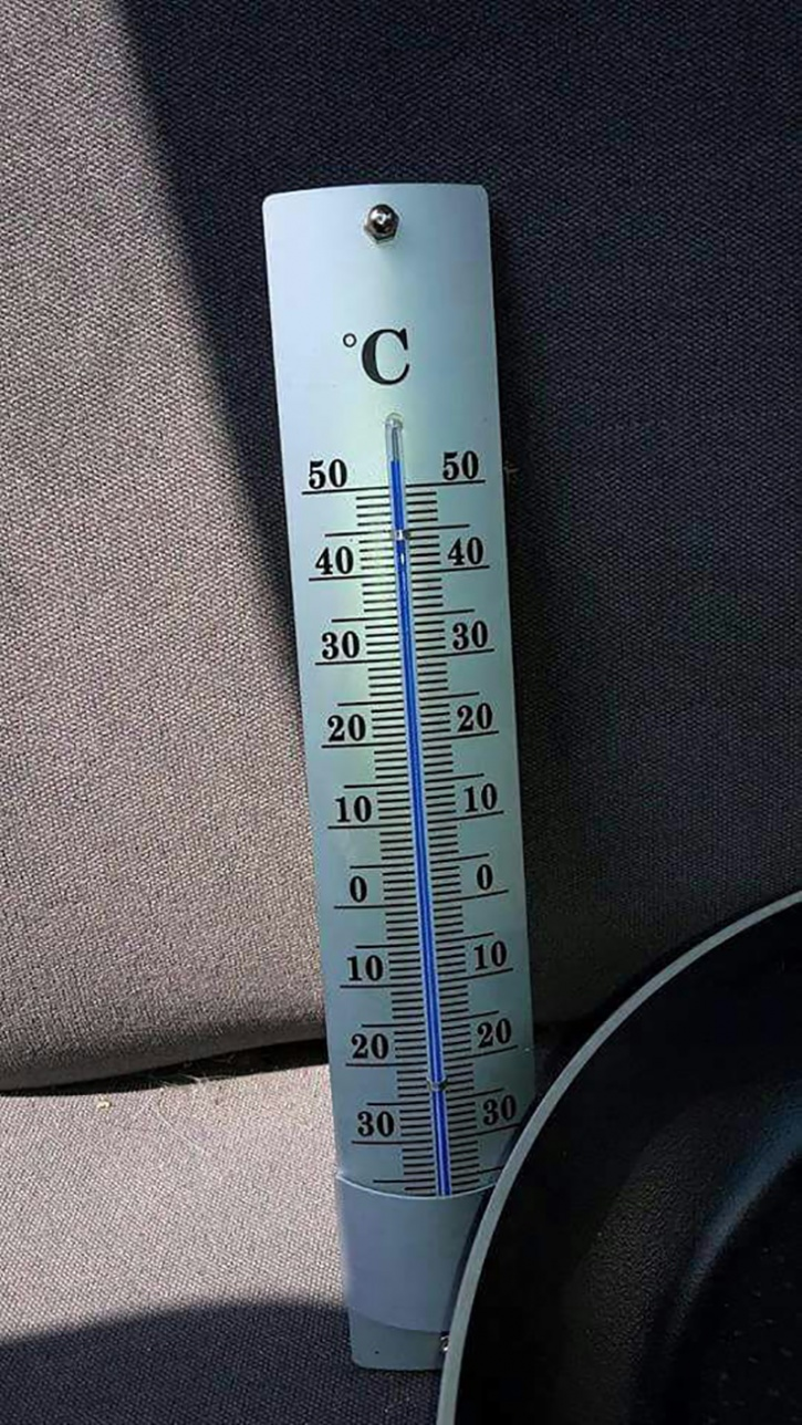 After about 15 minutes the temperature was quiet high