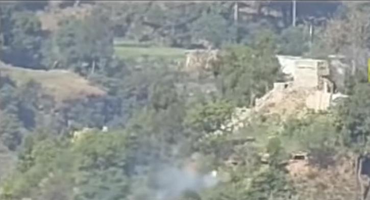 Indian army destroys pakistani bunker