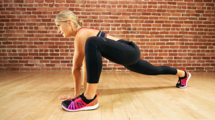 The 25-minute routine features nontraditional core and cardio exercises to prevent boredom