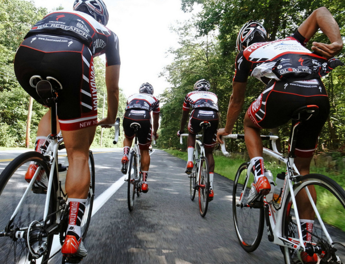 You can, however, take biking outdoors to the next level by competing or joining a group of more experienced rider and trying to keep up with the group