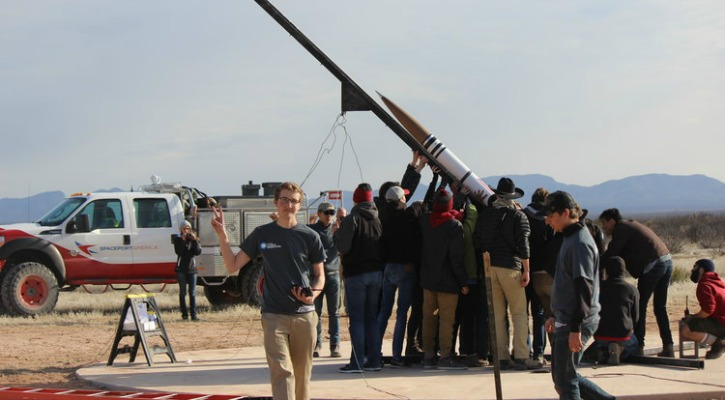 The USC engineering students, at the Fathom II launch site