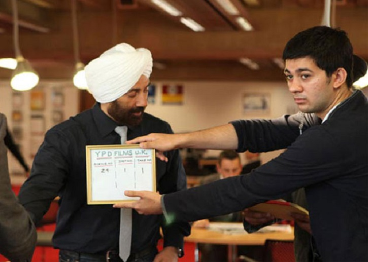 Sunny Deol with his son