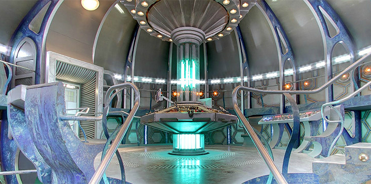 The interior of Dr Who