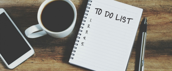 Make a to-do list can ease your mind
