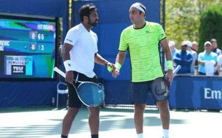 Leander Paes and Purav Raja