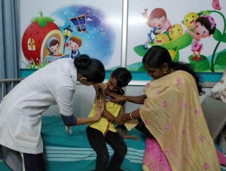 immunizing children