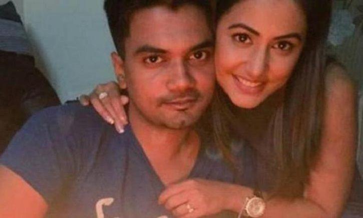 Hina Khan with her boyfriend Rocky