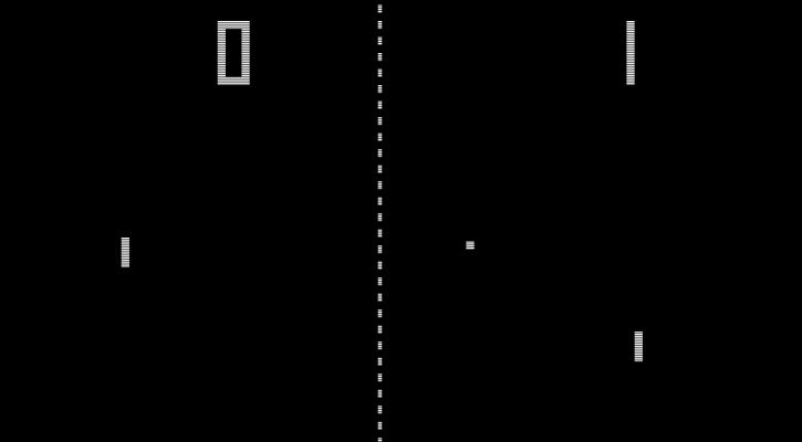 Pong was a simple back and forth game, with the speed increasing every time you returned a hit.