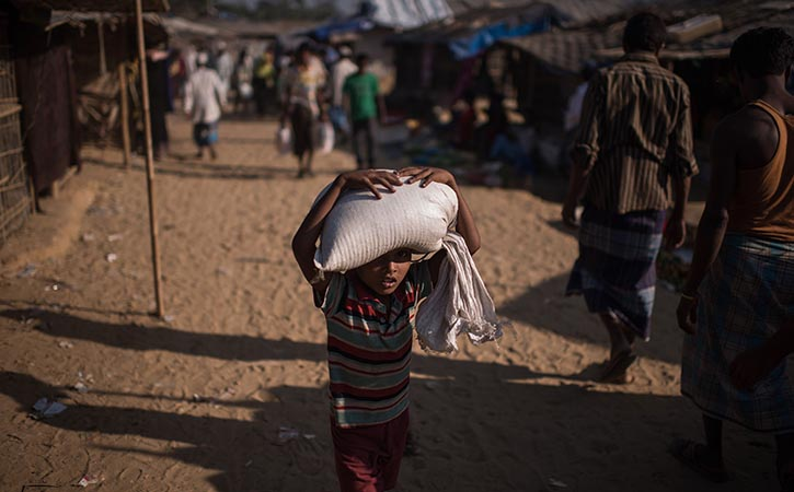 Rohingya refugees is the backdrop to Pope Francis