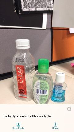 Seeing Ai bottles