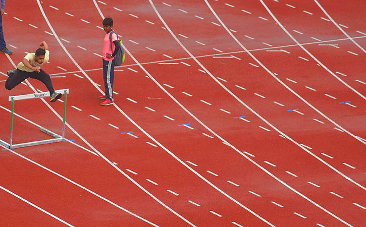 Synthetic Athletics Track