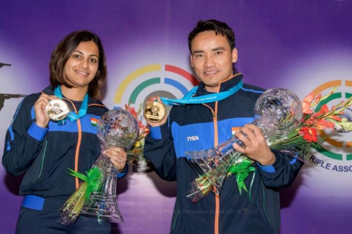 Jitu Rai and Heena Sidhu