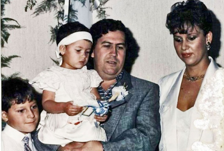 Pablo Escobar and his family