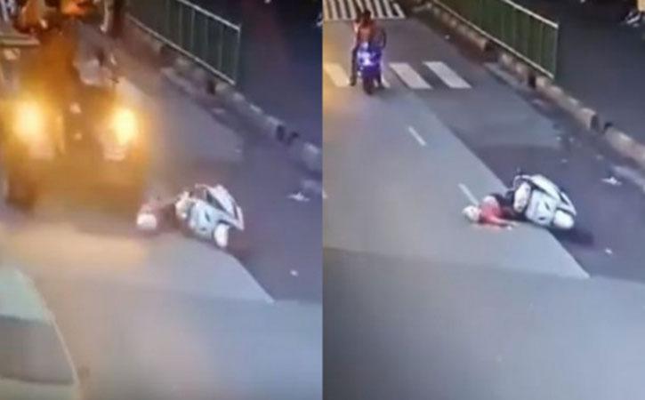 Women Crushed under crane