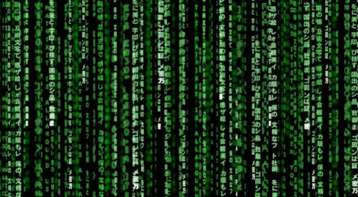 the matrix green code