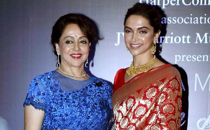 Hema Malini and Deepika Padukone