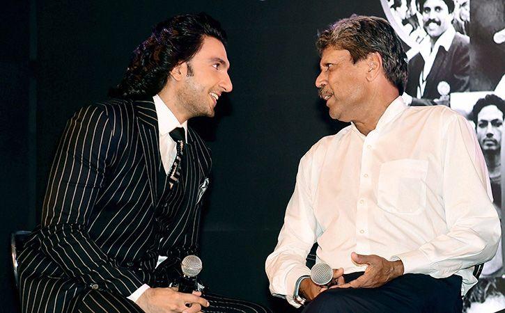 Ranveer and Kapil Dev