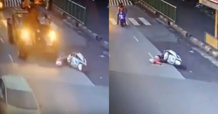 woman crushed to death