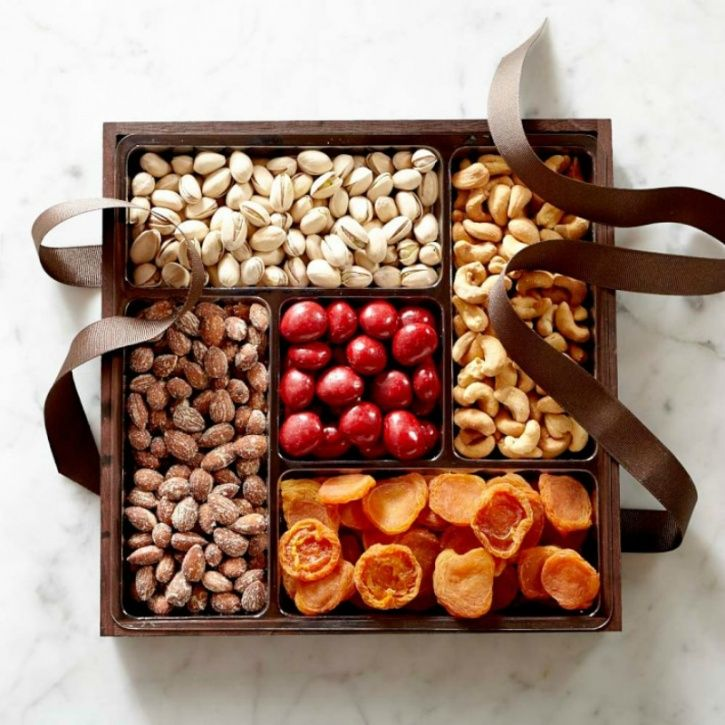 Gift mindfully and encourage others to do the same Keep a healthy mindset while shopping for gifts. Offer others a healthy with a box of almonds, walnuts, chia seeds, sesame seeds, Pecans, pine nuts, that group zumba dance pass or a trek for the entire family and friends.