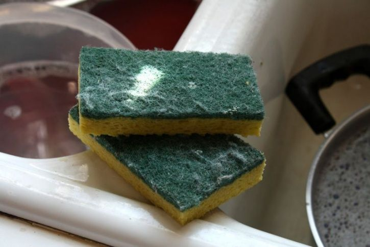 Not cleaning your kitchen sponge thoroughly Sponges may be very effective in keeping your house clean, which also makes them a serious germ magnet. Sponges are believed to be the ideal breeding grounds for microbes because they get a nourishing, warm, moist environment, along with nutritive material from food waste. Replacing sponges every month, or washing at a high temperature in the dishwasher should keep bacterial growth at bay.