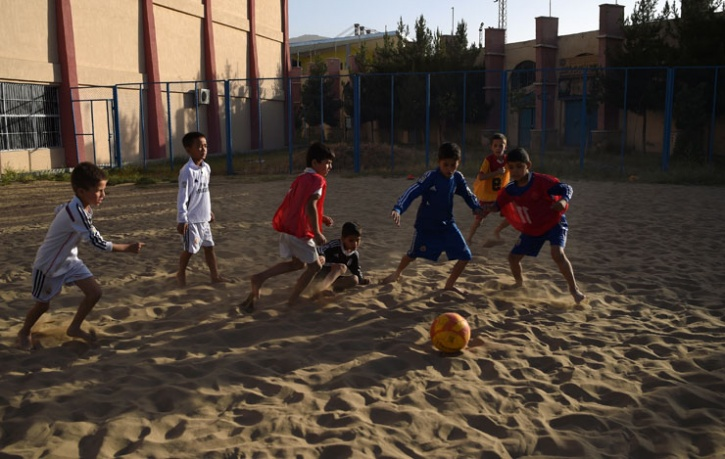 beach football in afghanistan