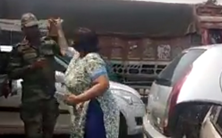 Women who slapped army officer