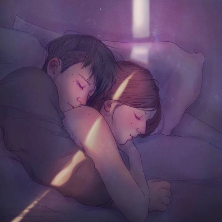 #14. Nothing seems as secure as sleeping in each other