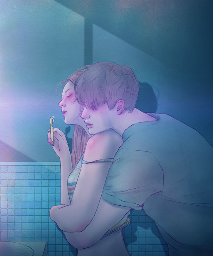 # 6. Even brushing your teeth has a touch of romance