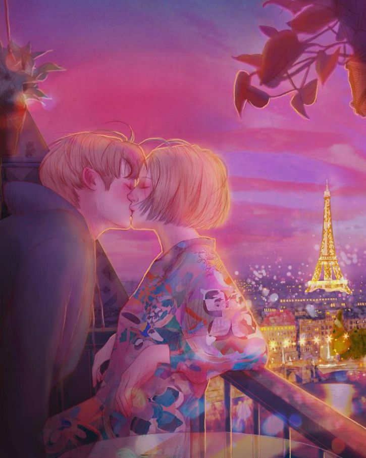 #13. Travelling to the city of love just kiss your beloved