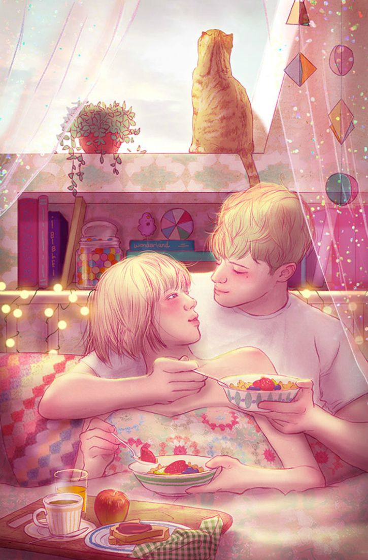 #12. Feeding each other is just another way to share intimate moments