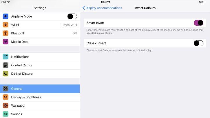 smart invert ios 11
