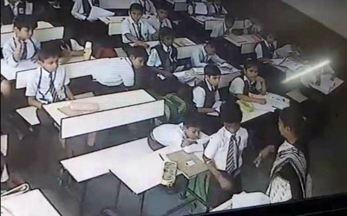 Lucknow teacher slaps student