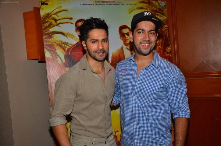 A photo of Varun Dhawan with his elder brother Rohit Dhawan.