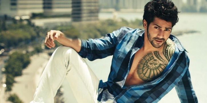 A picture of Bollywood actor Varun Dhawan.