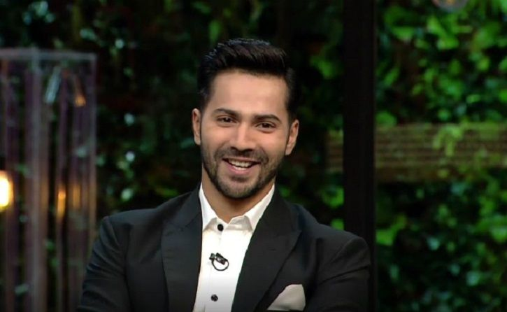 A Picture of Bollywood actor Varun Dhawan from Koffee With Karan.