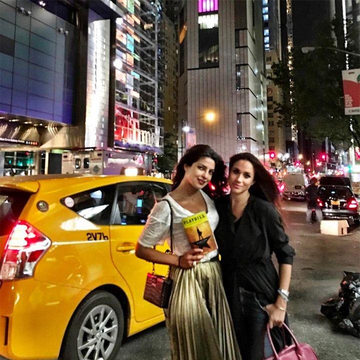 A picture of Meghan Markle and Priyanka Chopra.