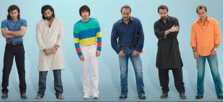 A picture of Ranbir Kapoor as Sanjay Dutt from his biopic Sanju.