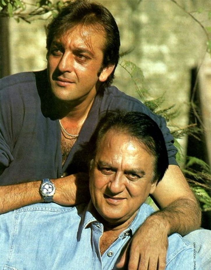 A picture of Sanjay Dutt with Sunil Dutt