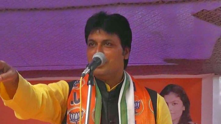 A picture of Tripura CM Biplab Kumar Deb.