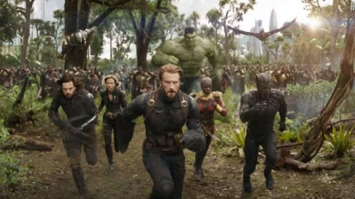 A still from Marvel film Avengers: The Infinity War.