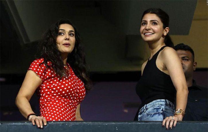 Anushka sharma and Preity Zinta at IPL 2018.