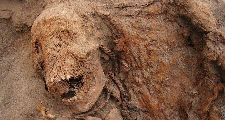 child sacrifice site in Peru