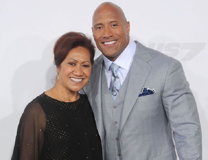 Dwayne Johnson with his mother.