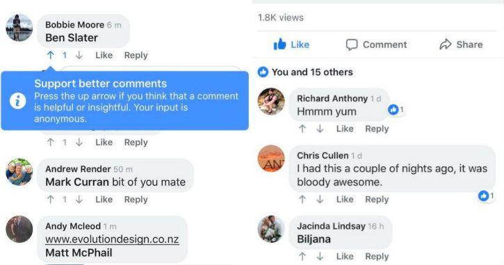 facebook downvote screenshots