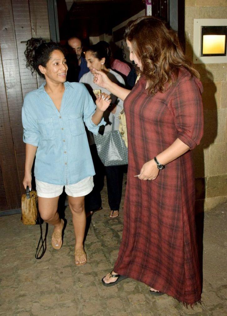 Farah Khan and Masaba Gupta spotted at Sonam Kapoor