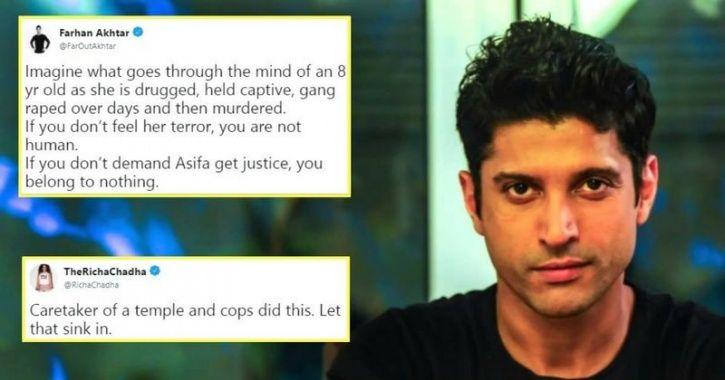 Farhan Akhtar, Richa Chadha & Other Bollywood Celebrities Demand Justice In Kathua Rape Case