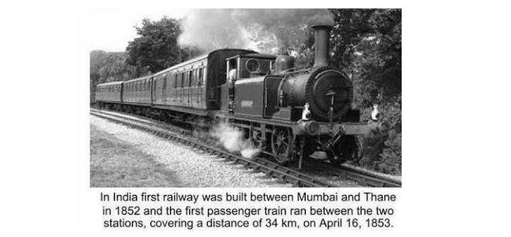 first train in india
