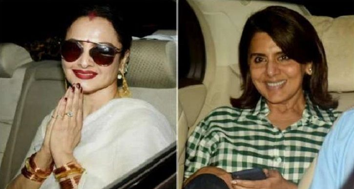 Rekha and Neetu Kapoor attend special screening of Amitabh Bachchan and Rishi Kapoor