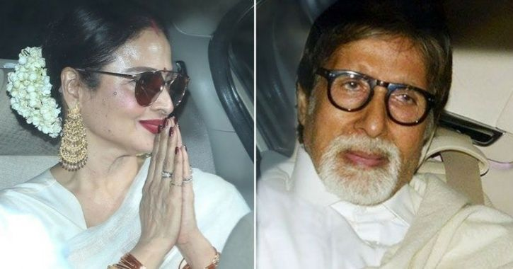 Rekha attended a special screening of the Amitabh Bachchan-starrer 102 Not Out recently.