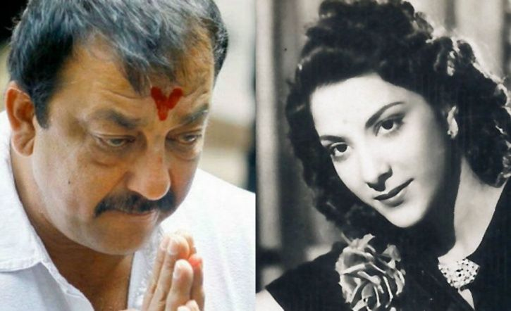 Sanjay Dutt with his mother.